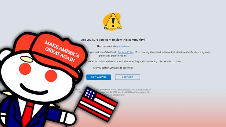 Reddit Quarantines r/The_Donald Over Violent Comments