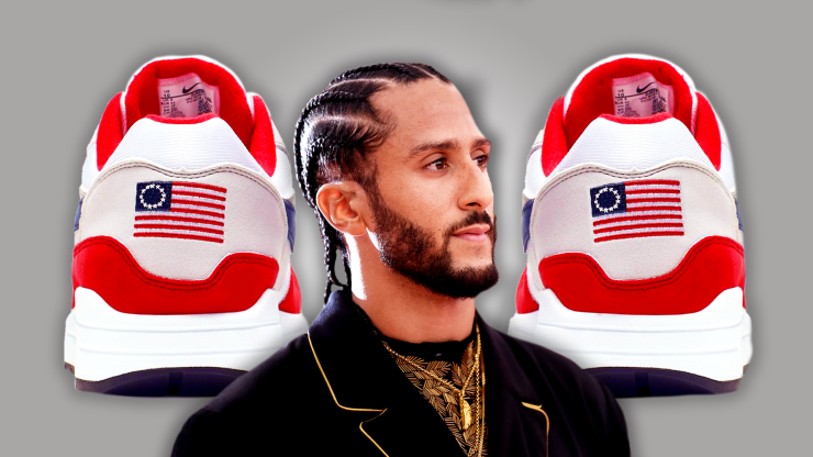Colin Kaepernick Convinces Nike To Pull Betsy Ross Flag Sneaker